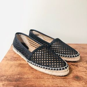 Frye Lee A Line Black Perforated Espadrilles 7.5